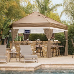 Luxe Outdoor Gazebo - The Luxe gazebo can be set-up or taken down in 20-30 minutes. It can remain up year-round if desired and will withstand wind gusts up to 65 mph.