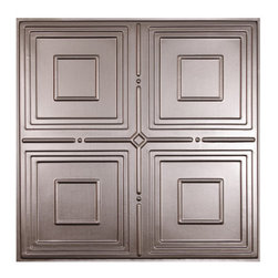 "Jackson Ceiling Tile - Faux Pewter - Perfect for both commercial and residential applications, these tiles are made from thick .03"" vinyl plastic. Their lightweight yet durable construction make these tiles easy to install. Waterproof, these tiles are washable and won't stain due to humidity or mildew. A perfect choice for anyone wanting to add that designer touch at an amazing price."