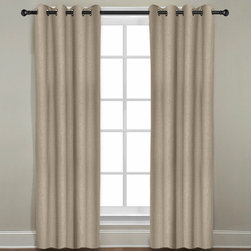 Grand Luxe - Grand Luxe Khaki  Linen Gotham Grommet Window Panel - Update your windows with this luxe grommet window panel. Made of 100 percent linen,this panel comes in a solid khaki color. The grommet construction makes this panel easy to install,allowing you to give your window treatments an instant facelift.