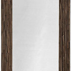 Kouboo - Rectangular Rattan Wall Mirror, Black Stain - This rectangular wall mirror creates a tropical feel in any room. Hang it in your bedroom, office or in your entry way. This casual accent will invite people to come in and relax for a while. 1 year limited warranty.