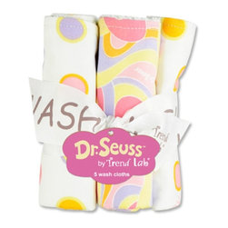 Trend Lab LLC - Trend Lab Dr Seuss Oh! The Places Youll Go! Bouquet - Wash Cloths Multicolor - 3 - Shop for Washcloths from Hayneedle.com! Make bath time a little more fun with the Trend Lab Dr. Seuss Pink Oh! The Places You'll Go! Bouquet - Washcloths. This set includes five washcloths that complement the Dr. Seuss Pink Oh! The Places You'll Go! collection. These washcloths are licensed by Dr. Seuss Enterprises L.P. to be sold. They are made of 100% terrycloth and come in a variety of patterns: two have a bubblegum pink hot pink lilac apricot and soft yellow polka dot pattern two have the same colors in a swirl design and the final has a bold pink on pink stripe print. Each measures 8L x 8W inches and is made entirely of cotton. Watch your little princess make a splash!About Trend LabBegun in 2001 in Minnesota Trend Lab is a privately held company proudly owned by women. Rapid growth in the past five years has put Trend Lab products on the shelves of major retailers and the company continues to develop thoroughly tested high-quality baby and children's bedding decor and other items. With mature professionals at the helm of this business Trend Lab continues to inspire and provide its customers with stylish products for little ones. From bedding to cribs and everything in between Trend Lab is the right choice for your children.