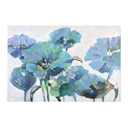 Uttermost Calming Poppies Floral Art - Hand painted canvas stretched over wood frame a vibrant burst of spring color is shown here in this hand painted artwork on canvas. The canvas is stretched over a wood frame. Due to the handcrafted nature of this artwork, each piece may have subtle differences.