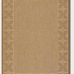 """Couristan - Recife Summer Chimes Rug 1523/0712 - 2' x 3'7"""" - These weather-defying area rugs are suitable for indoor and outdoor use. You'll love the way they color-coordinate with today's most popular outdoor furniture pieces. The collection's naturally inspired color palette will provide a warmer and more inviting appearance for patio decks and stone entryways."""
