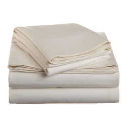 1500 Thread Count Cotton King Ivory Solid Sheet Set - 1500 Thread Count 100% Cotton - King Ivory Solid Sheet Set
