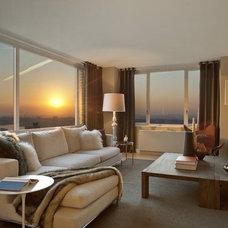 Modern Living Room by AQ Interior Design