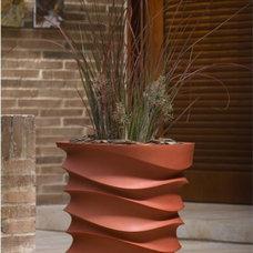 Contemporary Outdoor Planters by Hayneedle