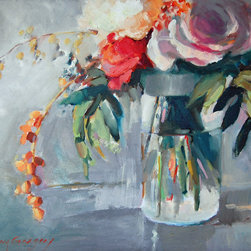 "Erin Gregory Art - ""Roses and Berries"""