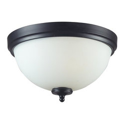 Z-Lite - Z-Lite 604F3 Harmony 3 Light Flushmount Ceiling Fixture - With a contrasting white shade and crystal sphere, this three-bulb flush mount is a unique mix of contemporary and traditional styling. Finished in matte black, this fixture creates an elegant yet bold statement.Features: