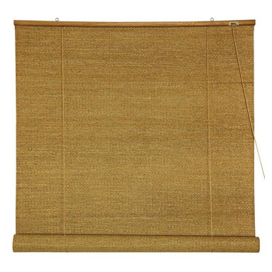 Oriental Furniture - Woven Jute Roll Up Blinds - (24 in. x 72 in.) - Woven Jute is a rustically beautiful all natural plant fiber, we've had woven into beautiful rustic window treatments. Roll up blinds are a particularly convenient design, both easy to operate and easy to install. Install right on the wood frame of the window, overhanging the opening, mounted on simple metal hooks. Convenient, rustically attractive inexpensive window treatments almost completely opaque, providing privacy and blocking light. Note that the large size blinds also work well as a ceiling mounted style retractable room divider or privacy screen.
