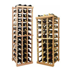 Wine Cellar Innovations - 3 Columns Individual; Vintner: Rustic Pine, Unstained, 4 Ft - Each wine bottle stored on this three column individual bottle wine rack is cradled on customized rails that are carefully manufactured with beveled ends and rounded edges to ensure wine labels will not tear when the bottles are removed. Purchase two to stack on top of each other to maximize the height of your wine storage. Moldings and platforms sold separately. Assembly required.