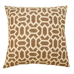 Square Feathers - Sahara Pillow, Diamond Pillow - The Sahara concept is exotic. Bringing patterns you wouldn't usually see on a pillow. Both stylish and bold.