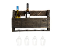 (del)Hutson Designs - Little Elm Wine Rack, Ebony - Made out of %100 reclaimed wood, this piece is sure to catch attention in your house for it's unique and one of a kind style.