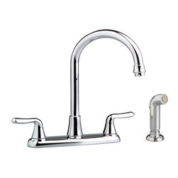 American Standard - American Standard Colony Soft Two-Handle Gooseneck Kitchen Faucet W/ Side Spray - American Standard 4275.551.002 Colony Soft Two-Handle Gooseneck Kitchen Faucet with Side Spray, Polished Chrome