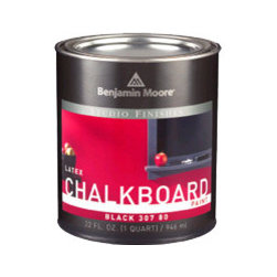 Studio Finishes Chalkboard Paint - Chalkboard paint is an easy way to encourage creativity in kids and adults alike. Don't feel like you are tied to black, as several companies offer numerous colors. You can even find tutorials online on how to turn any paint into chalkboard paint.