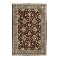 """Kaleen - Kaleen Mystic Collection 6062-49 3'6""""X5'3"""" Brown - The Mystic Collection is inspired to be a new generation of Kaleen's legendary Mystical Garden Collection. Mystic is a statement of style, and personal taste.  Completely handcrafted from washed 100% virgin wool this collection of wonderful and delightful designs offers the flexibility and durability to handle today's hectic lifestyle while offering elegance and charm rarely seen.  Hand crafted in India."""