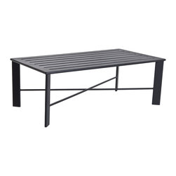 Gios Outdoor Slatted Top Coffee Table - Gios Aluminum Slatted Top Coffee Table Dimensions: