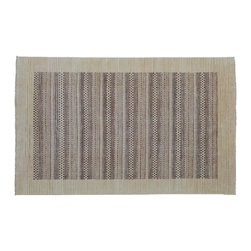 5'X8' Oriental Rug, 100% Wool Hand Knotted Modern Striped Gabbeh Rug SH9066 - Our Modern & Contemporary Rug Collections are directly imported out of India & China.  The designs range from, solid, striped, geometric, modern, and abstract.  The color schemes range from very soft to very vibrant.