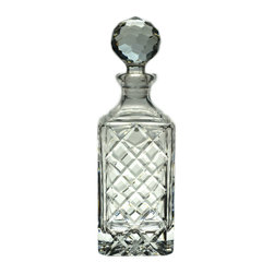 Lavish Shoestring - Consigned Heavy Crystal Glass Whiskey Decanter by RCR, Vintage Italian - This is a vintage one-of-a-kind item.