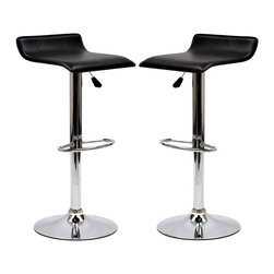 Gloria Bar Stool Set of 2 - The Gloria Bar Stool is classy but simple, perfect for entertaining guests at your home bar or the kitchen counter. The Gloria Bar Stool features a low key design that brings true style.