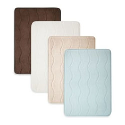 Mindsinsync Inc. - Home Inspirations 17-Inch x 24-Inch Memory Foam Promo Mat in Colors - The plush comfort of the Home Inspirations Memory Foam Mat will bring your daily routine to another level. Super absorbent and soft, this mat is designed for both functionality and indulgence.