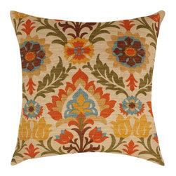 Land of Pillows - Waverly Santa Maria Throw Pillow, Adobe - Fabric Designer - Waverly