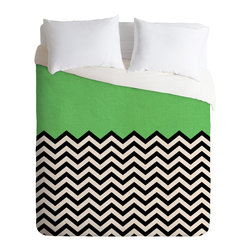 DENY Designs - Bianca Green This Way Duvet Cover - Turn your basic, boring down comforter into the super stylish focal point of your bedroom. Our Luxe Duvet is made from a heavy-weight luxurious woven polyester with a 50% cotton/50% polyester cream bottom. It also includes a hidden zipper with interior corner ties to secure your comforter. it's comfy, fade-resistant, and custom printed for each and every customer.