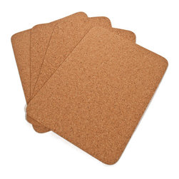 The Felt Store - Plain Table Mat - Rectangle, 400 X 300 X 3mm - The Felt Store's Plain Table Placemat - Rectangle adds an eco-friendly twist to your table! This product is a contemporary fine grain cork place mat perfect for your home! This Cork Placemat is rectangular in shape and measures approximately 16 inches long, 12 inches wide and 0.10 inches thick. These Cork Placemats will bring natural and unique beauty to your table! This package contains 4 cork table mats. This product can be wiped clean with a damp cloth.