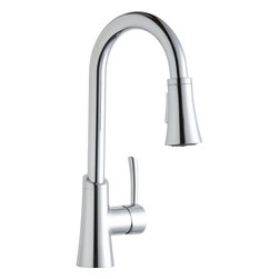 Elkay - Single Lever Pull Down Bar Faucet CR - Product height: 2.76. Product min width: 9.06. Product depth: 22.83sgl lvr pd bar fct cr. Elevate the culinary experience with the professional grade gourmet collection. Meticulous attention to form and function creates a new standard for the connoisseur. Gourmet pull-down bar / prep faucet 14 gauge.