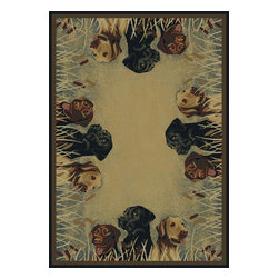 """United Weavers - Southwestern/Lodge Hautman Hallway Runner 1'11""""x7'4"""" runner Natural Area Rug - The Hautman area rug Collection offers an affordable assortment of Southwestern/Lodge stylings. Hautman features a blend of natural Natural color. Machine Made of Olefin the Hautman Collection is an intriguing compliment to any decor."""