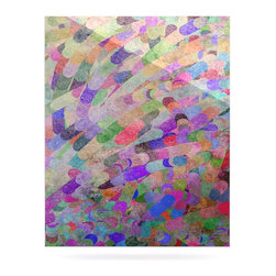 """Kess InHouse - Marianna Tankelevich """"Abstract"""" Rainbow Metal Luxe Panel (16"""" x 20"""") - Our luxe KESS InHouse art panels are the perfect addition to your super fab living room, dining room, bedroom or bathroom. Heck, we have customers that have them in their sunrooms. These items are the art equivalent to flat screens. They offer a bright splash of color in a sleek and elegant way. They are available in square and rectangle sizes. Comes with a shadow mount for an even sleeker finish. By infusing the dyes of the artwork directly onto specially coated metal panels, the artwork is extremely durable and will showcase the exceptional detail. Use them together to make large art installations or showcase them individually. Our KESS InHouse Art Panels will jump off your walls. We can't wait to see what our interior design savvy clients will come up with next."""