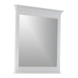 Magnussen - Magnussen Kentwood Landscape Mirror in Painted White Finish - Magnussen - Mirrors - B147540