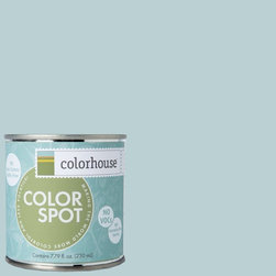 ColorSpot Eggshell Interior Paint Sample, Water .03,  8-oz - Test color before you paint with the Colorhouse Colorspot 8-oz  paint sample. Made with real paint and in our most popular eggshell finish, Colorhouse paints are 100% acrylic with NO VOCs (volatile organic compounds), NO toxic fumes/HAPs-free, NO reproductive toxins, and NO chemical solvents. Our artist-crafted colors are designed to be easy backdrops for living.
