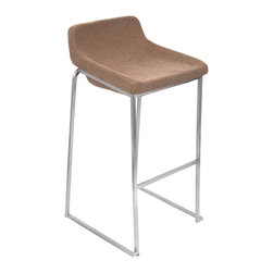 "Lumisource - Drop In Bar Stool, Tan - 19.5"" L x 19.5"" W x 36.75"" H"