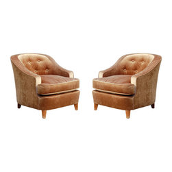 French Art Deco Armchairs - This pair of chic French arm chairs would look amazing in a spare room or a modern living room.