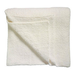 """Kashwere - Kashwere Solid Blanket Creme - Embodying simple sophistication, the rectangular Kashwere throw lends a clean, contemporary design to modern decor. The creme blankets luxuriously soft fabric pampers with sumptuous texture and depth.  Queen: 70"""" x 90""""; King: 88"""" x 96""""; Machine washable; 100% Kashwere Chenilla synthetic fiber"""