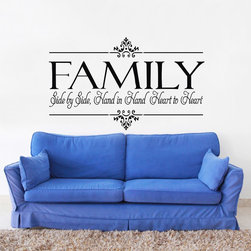 ColorfulHall Co., LTD - Home Wall Sticker Family Hand In Hand Heart To Heart - Home Wall Sticker Family Hand In Hand Heart to Heart