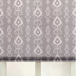 None - Tullahoma Cotton Print Flat Fold Roman Shade - This Flat Fold Roman Shades offer a simple,elegant,tailored design with no horizontal seams or stitching. This tailored style is an excellent choice for fabrics with large scale patterns that look best without interruption.