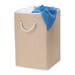 Honey Can Do - Square Resin Hamper - Resin weave material. Holds 2 loads of laundry. 26 in. H x 14 in. W x 14 in. D