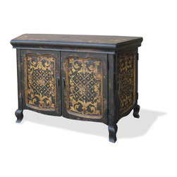 Budapest Buffet, Black Baroque with Gold Scrolls - Budapest Buffet, Black Baroque with Gold Scrolls