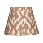 Camel and Cream Ikat Lamp Shade - If you want to get in on the ikat trend, switching out your shade for this option is an easy way to update your room.
