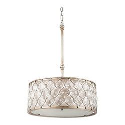 "Contemporary Murray Feiss Lucia Collection 18 1/2"" Wide Pendant Light"