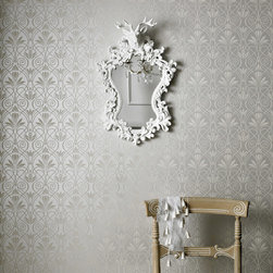 Graham & Brown - Mystical Wallpaper - This Mystical wallpaper design will give your walls a sleek quality with its clean silver and grey linear pattern. The design also holds a sense of glamour to it due to its wonderful detail and strong classical sensibilities. This ornate pattern is also available in three other shades and colours, including cream and light blue, but all retain a sense of ghostly beauty to them and a certain mystic charm.