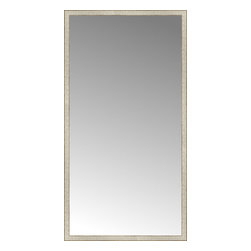 """Posters 2 Prints, LLC - 43"""" x 81"""" Libretto Antique Silver Custom Framed Mirror - 43"""" x 81"""" Custom Framed Mirror made by Posters 2 Prints. Standard glass with unrivaled selection of crafted mirror frames.  Protected with category II safety backing to keep glass fragments together should the mirror be accidentally broken.  Safe arrival guaranteed.  Made in the United States of America"""