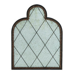 Benzara - Antique Gate Metal Wall Plaque Brown Living, Family Dining Room Art Decor - Antique gate inspired style metal wall plaque with a rustic brown finish living, family and dining room art decor