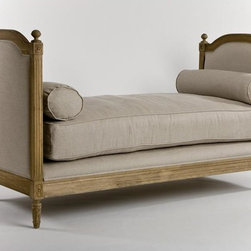 Zentique - Zentique Antoinette Daybed in Natural Oak and Linen - Antoinette daybed in natural oak and linen by Zentique.