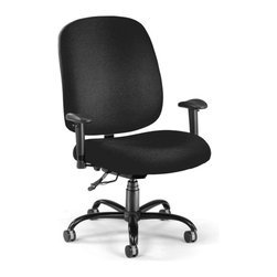 OFM - OFM Big and Tall Chair with Arms in Black - OFM - Office Chairs - 700AA6236 - Designed for comfort and durability this chair is tailor made for people of almost any size or height! The extra thick foam seat is made with comfort in mind and the heavy-duty construction is safe and stable. The arms also add extra comfort.