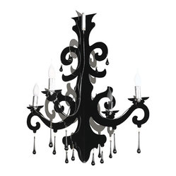 Nuevo Living - Bari Pendant Lamp - Why just turn on the light when you can turn on the drama? This fantastic acrylic fixture is a bit Goth and a whole lot gorgeous — a romantic addition to your favorite setting.