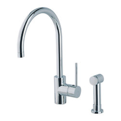Rohl Modern Architectural Side Lever Single Handle Faucet - Gorgeous modern lines with a side spray rather than an integrated spray.