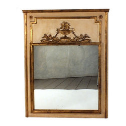 Louis XVI Style Mirror - This is a Louis XVI Italian Mirror with gold leaf molding & carvings all around. Mirror is in great condition and fully reflective.