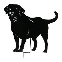 Rustica Ornamentals - Labrador Retriever Garden Stake or Wall Hanging / Memorial / Black Lab - This handcrafted Labrador Retriever Garden Stake or Wall Art will become a decorative favorite. A charming way to add some fun to your home or garden decor.